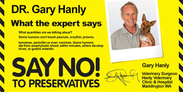 Hanly Vets Say No to Preservatives
