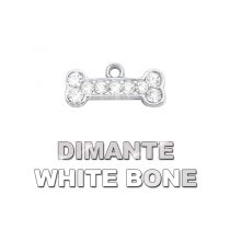 Charm Bone White Dimante