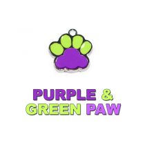 Charm Purple and Green Paw
