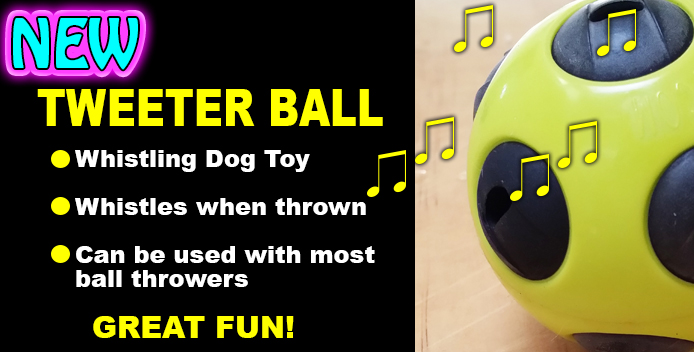 Tweeter Ball Whistling Dog Toy