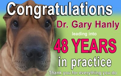 Congratulations Dr Gary Hanly 48 Years in practice